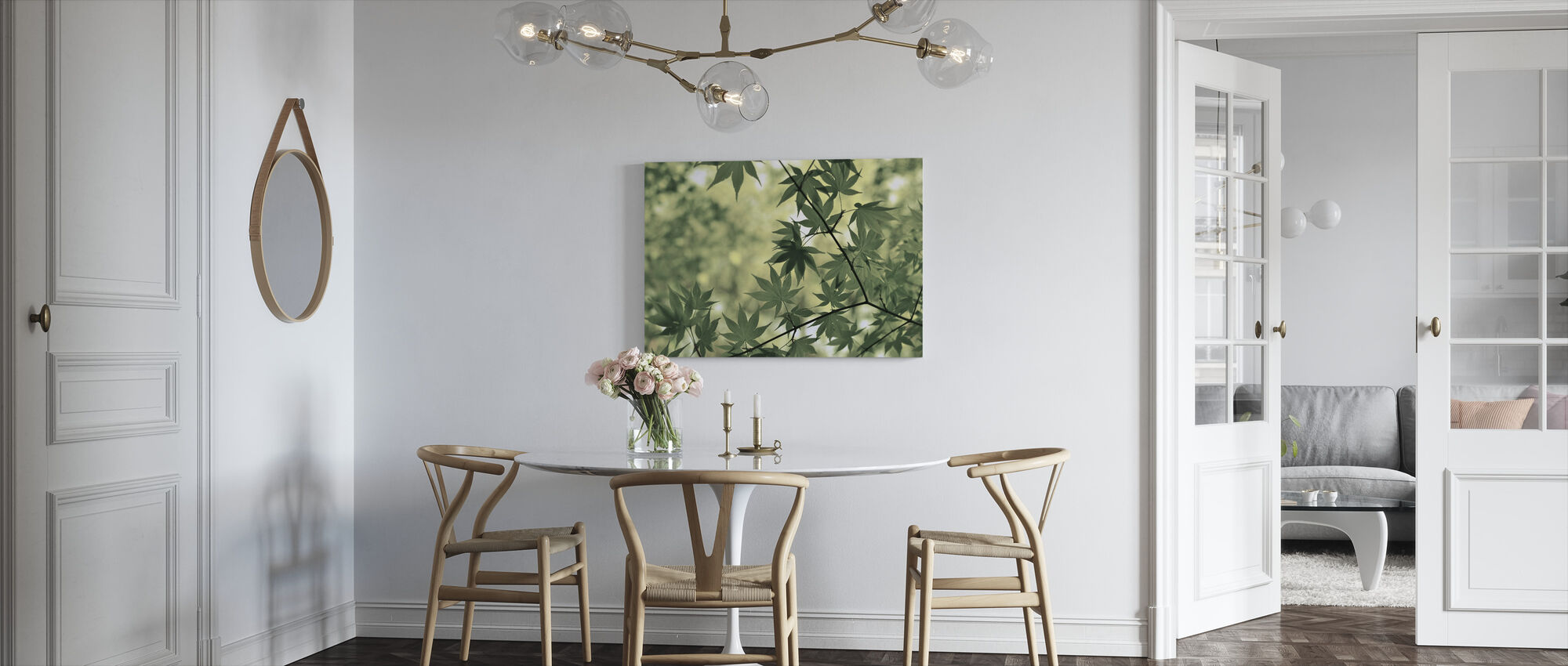 Branch and Leaves - Canvas print - Kitchen