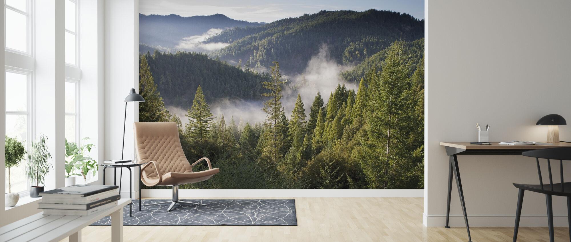 Utsikt över bergen - Tapet - Vardagsrum