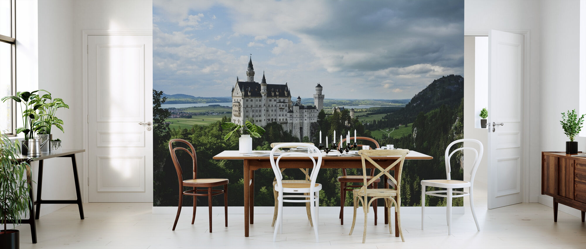 neuschwanstein castle fototapete nach ma photowall. Black Bedroom Furniture Sets. Home Design Ideas