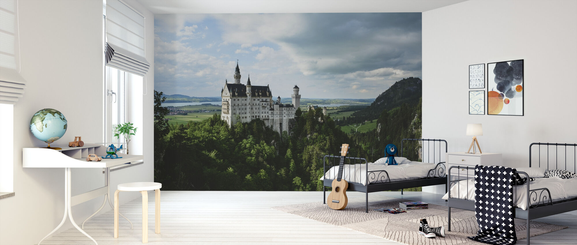 Neuschwanstein Castle - Wallpaper - Kids Room