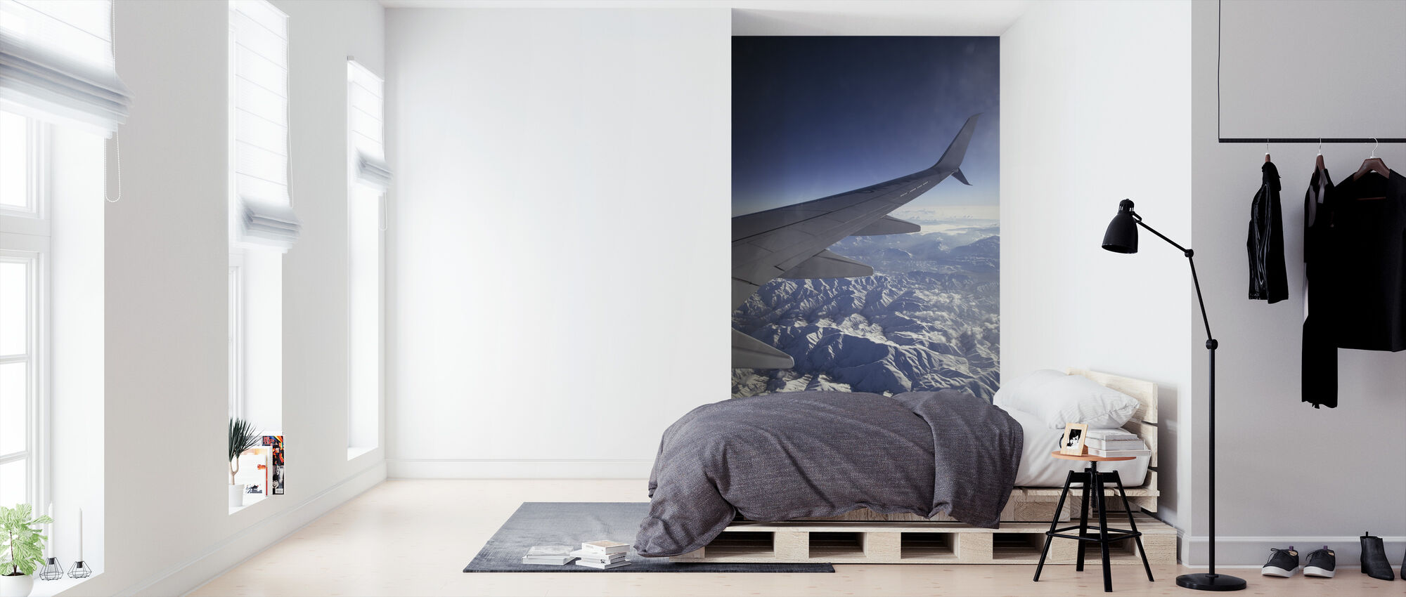 Airplane Wing - Wallpaper - Bedroom