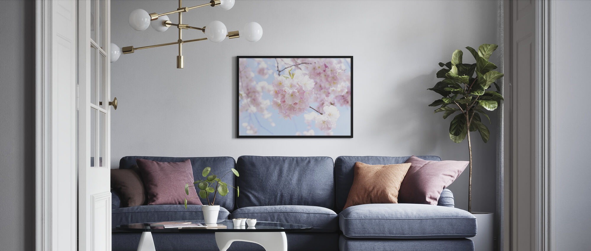 Cherry Tree Flowers - Framed print - Living Room