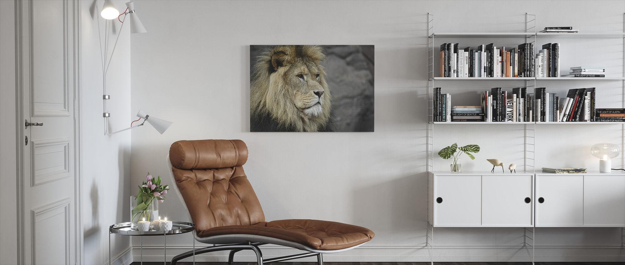 Majestätisk lejon - Canvastavla - Vardagsrum