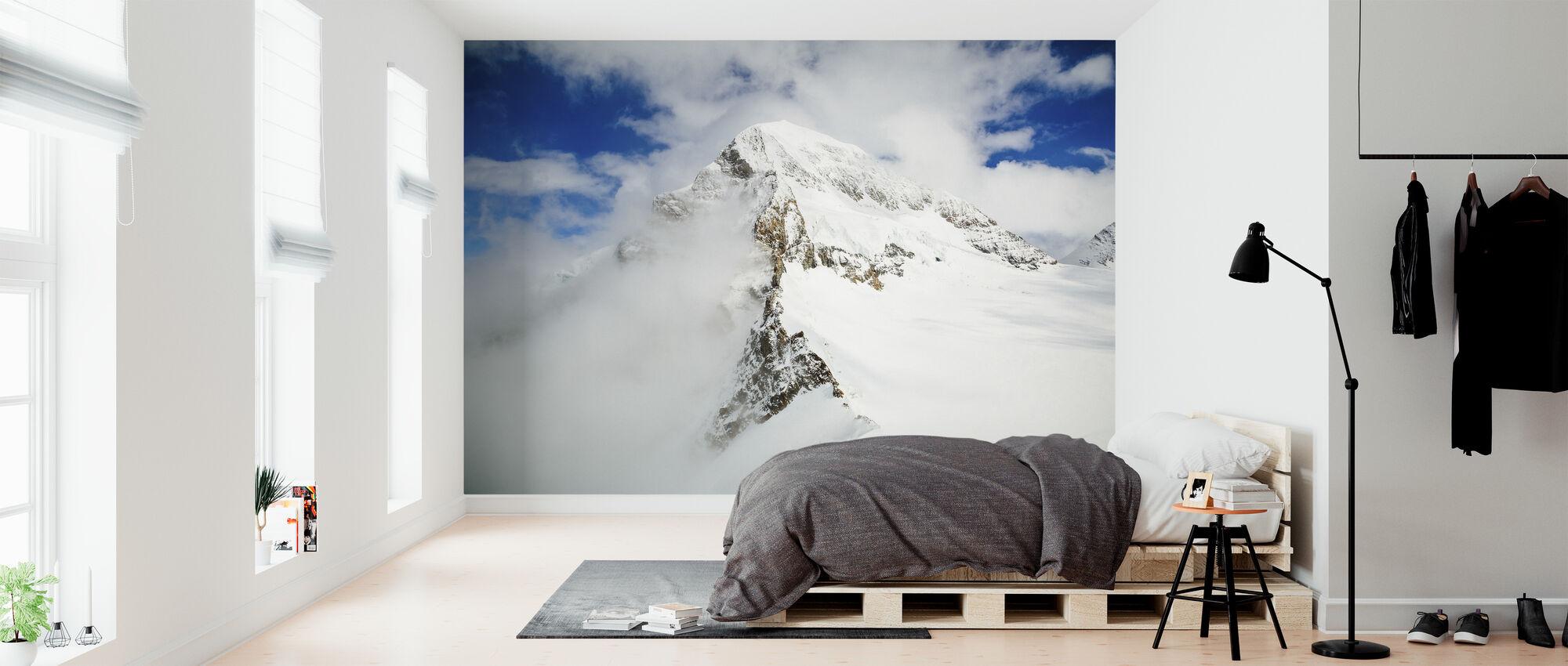 Snöig bergstopp - Tapet - Sovrum