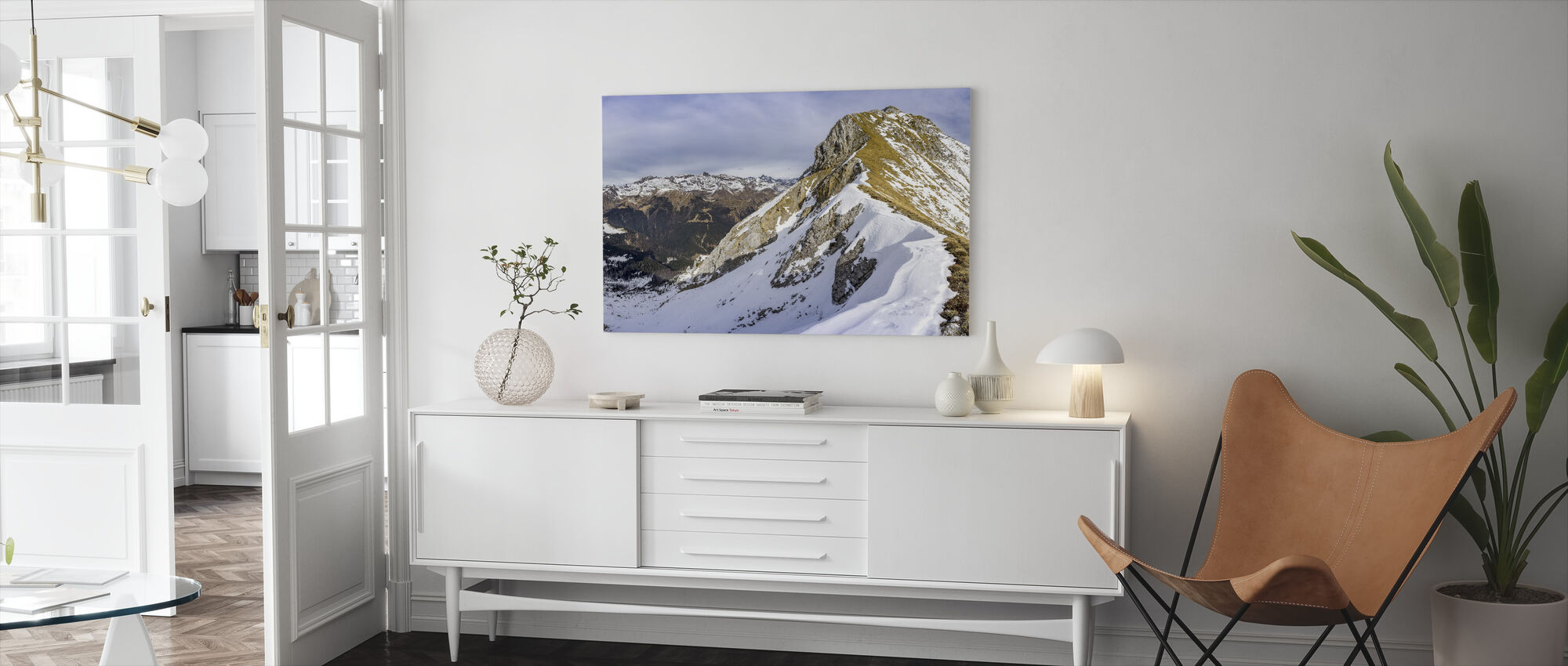 Panoramic Mountain Scenery - Canvas print - Living Room
