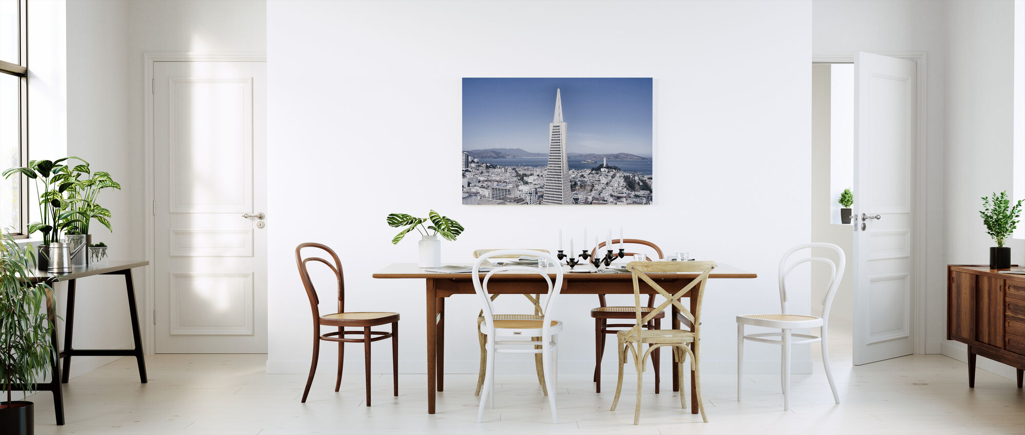 Business Buildings and Skyscrapper - Canvas print - Kitchen