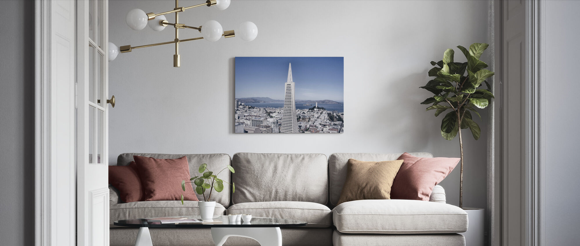 Business Buildings and Skyscrapper - Canvas print - Living Room