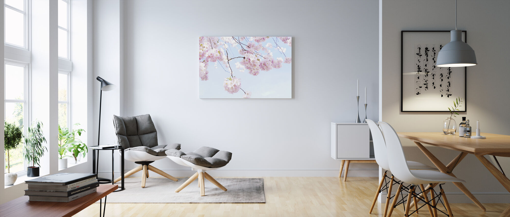 Blooming Cherry Flowers - Canvas print - Living Room