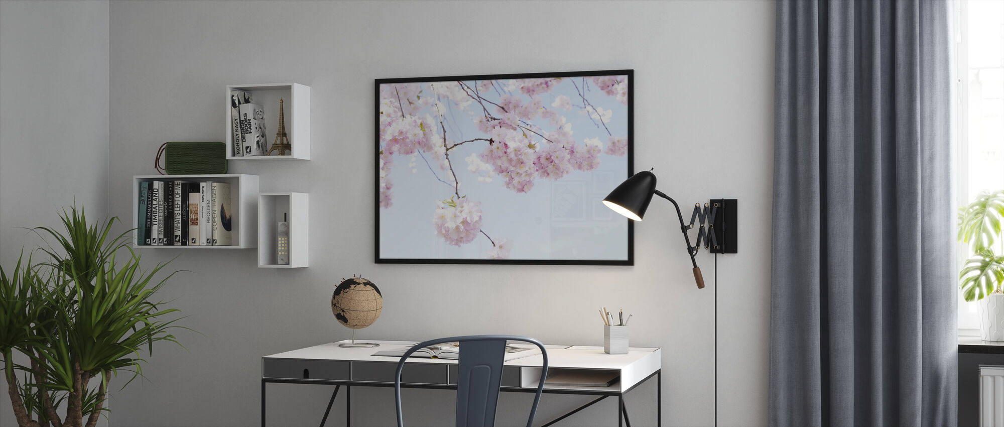 Blooming Cherry Flowers - Framed print - Office