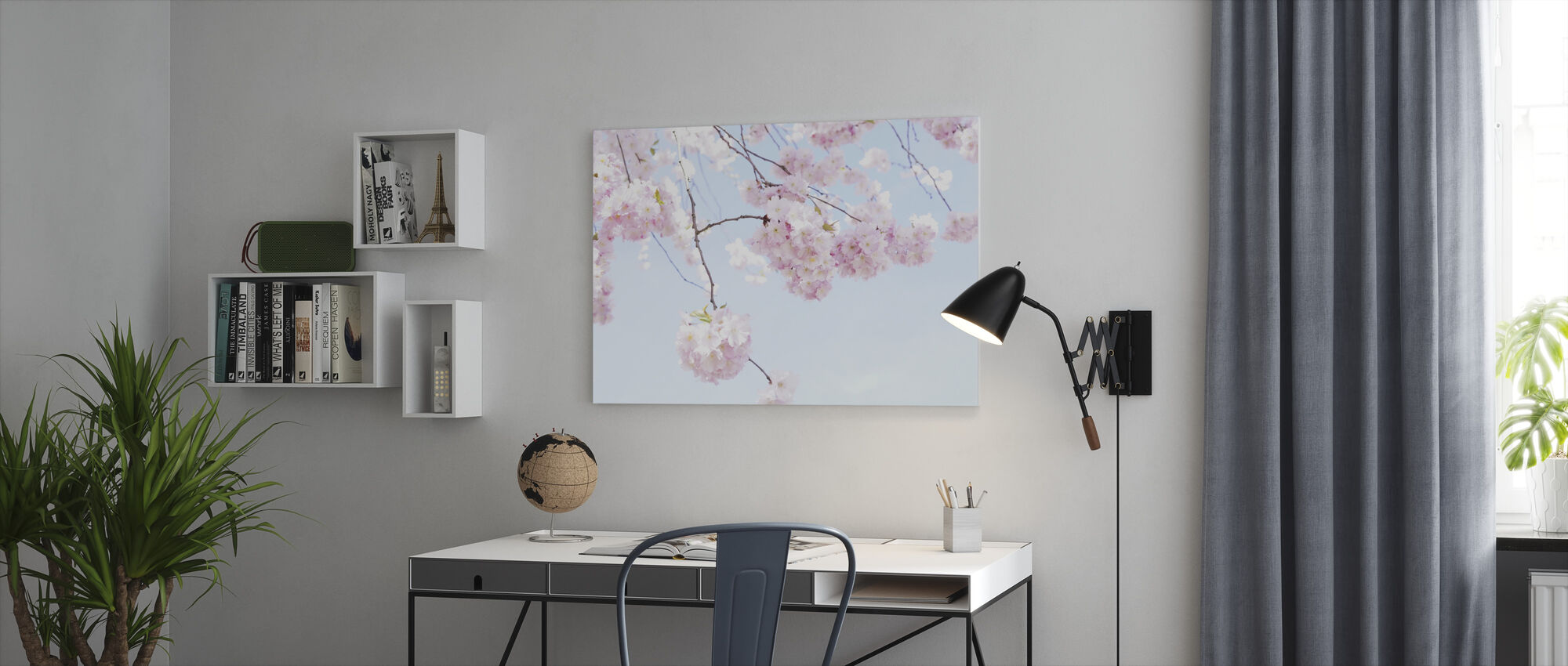 Blooming Cherry Flowers - Canvas print - Office