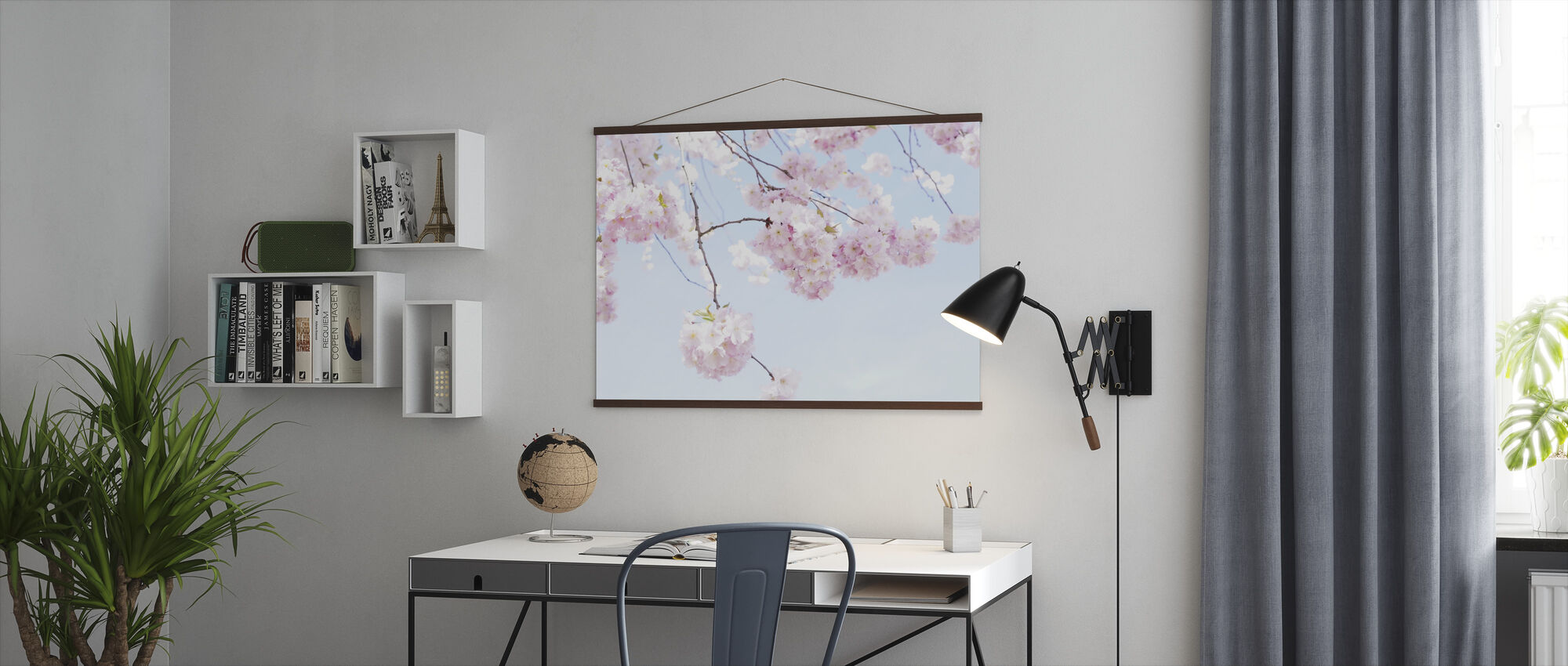 Blooming Cherry Flowers - Poster - Office
