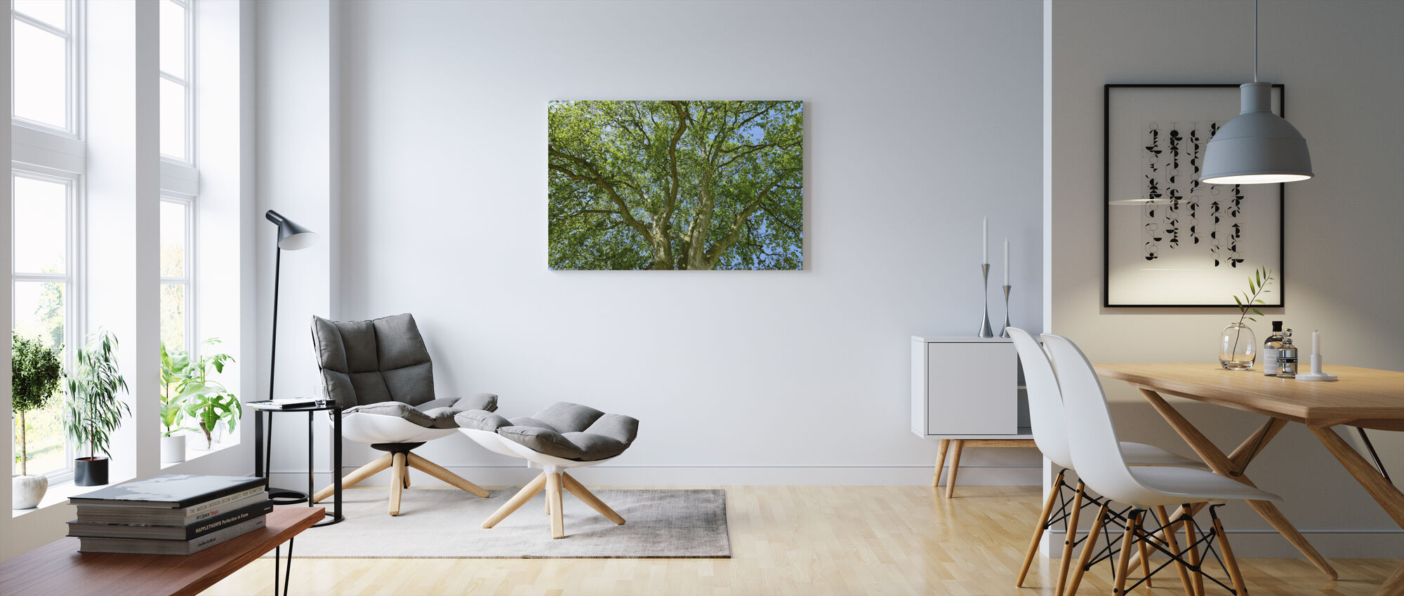 Tree Crown - Canvas print - Living Room
