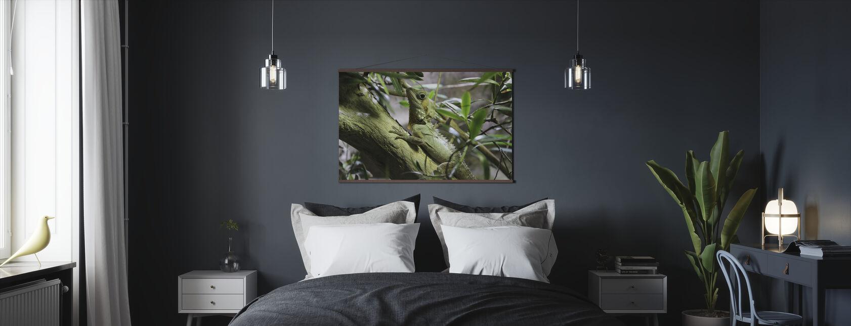Ödla på gren - Poster - Sovrum