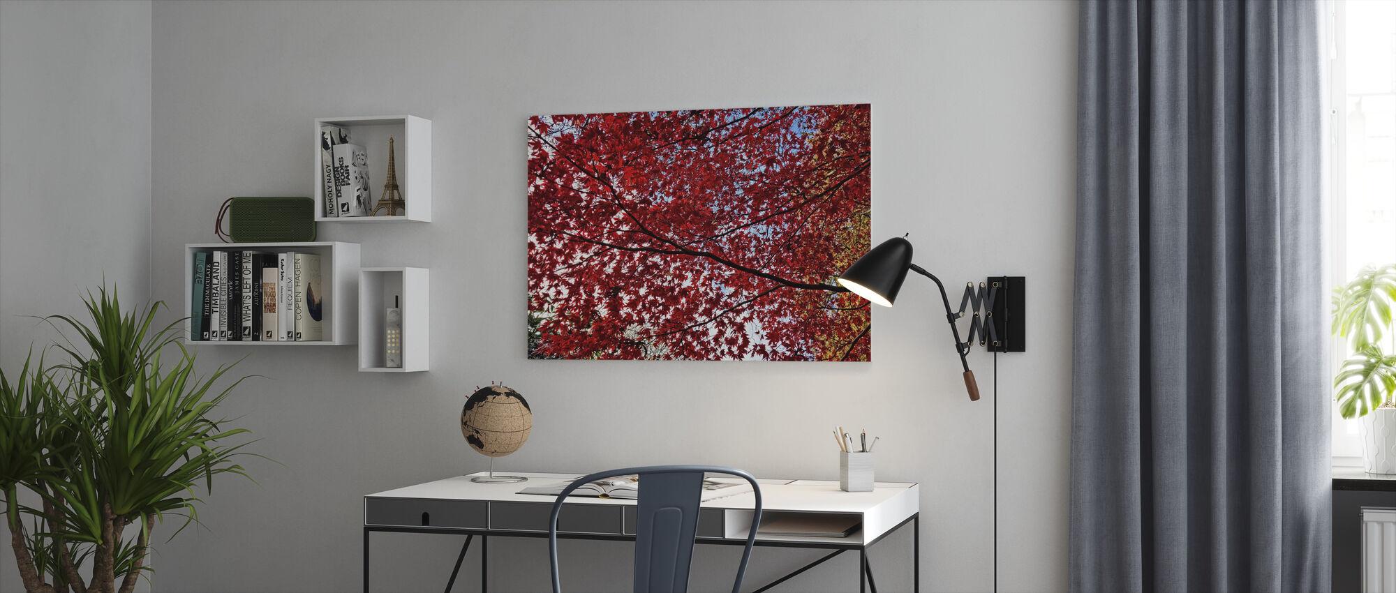 Autumn Leaves - Canvas print - Office