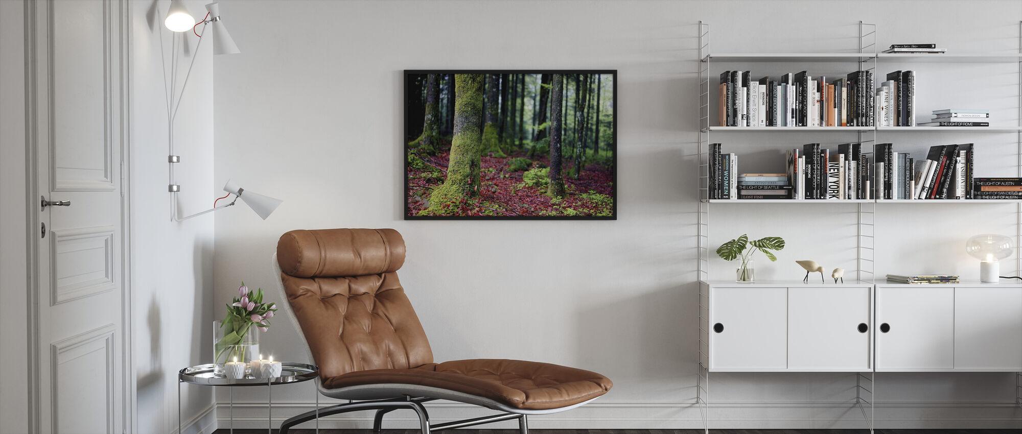 Moss in Trees - Framed print - Living Room