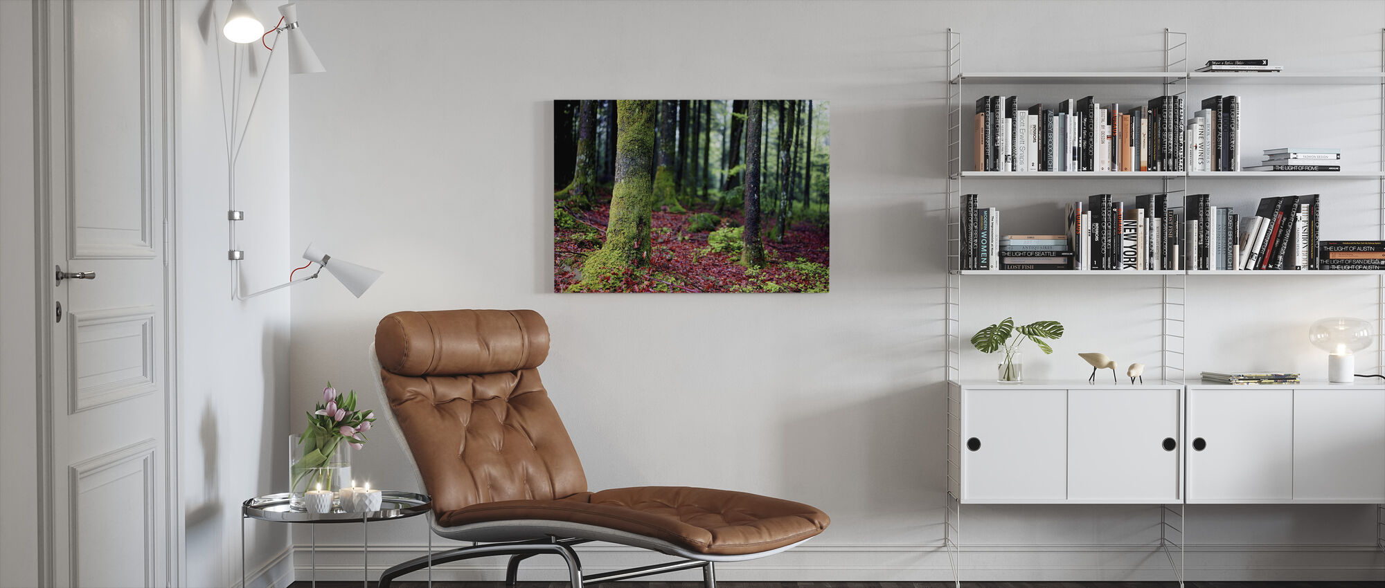 Moss in Trees - Canvas print - Living Room