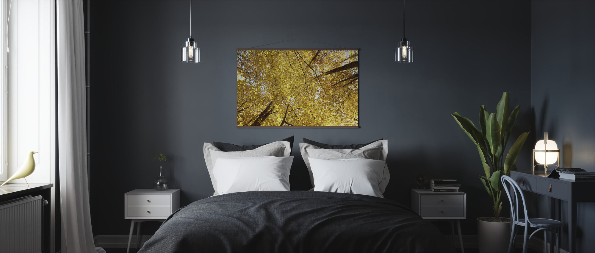 Yellow Autumn Leaves - Poster - Bedroom