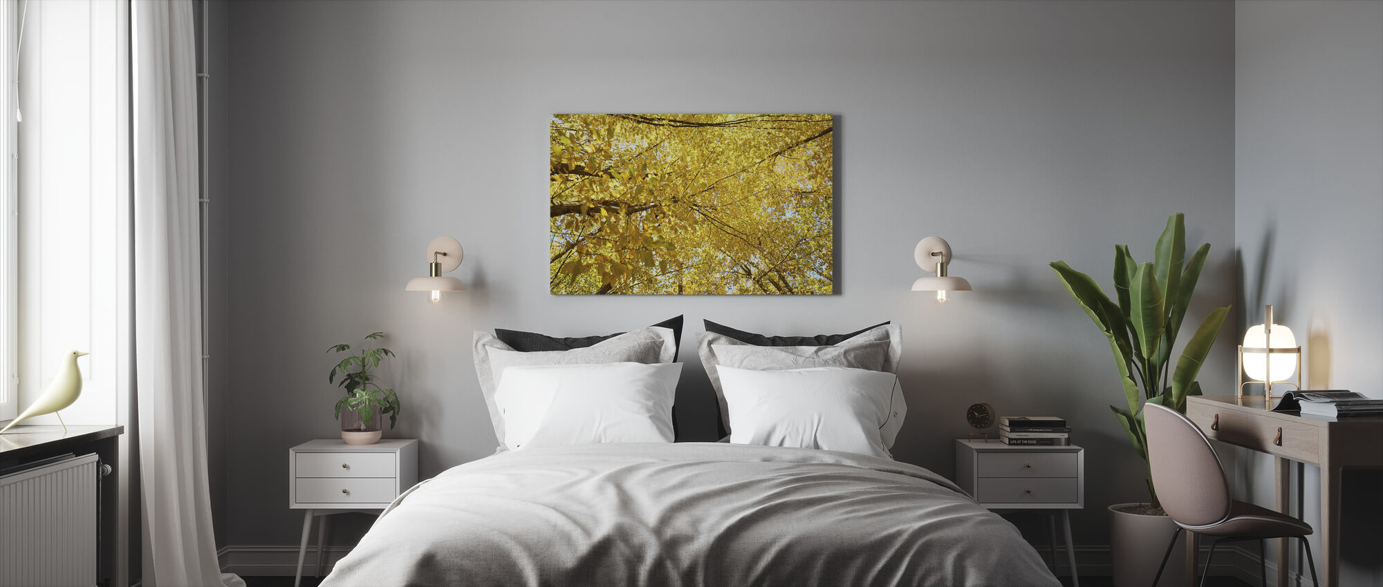 Yellow Leaves - Canvas print - Bedroom
