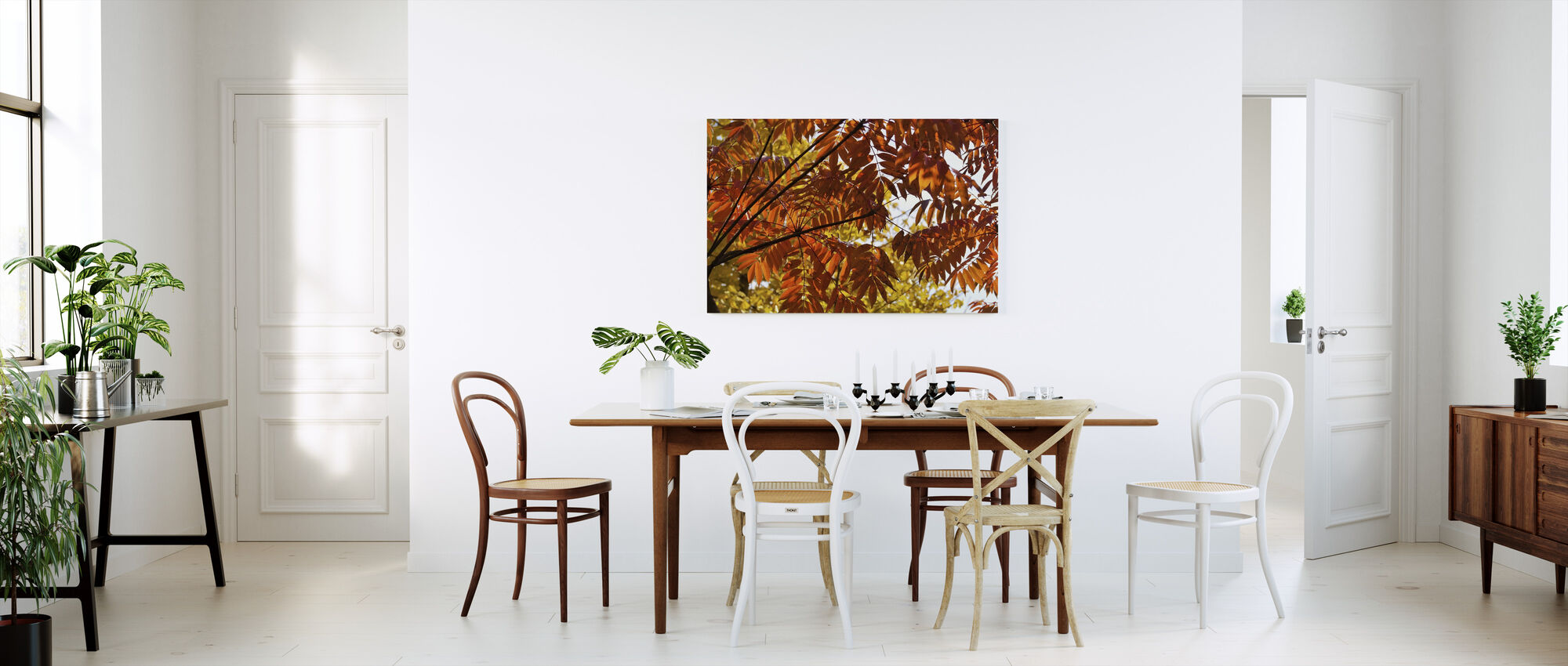 Gingko Lehdet - Canvastaulu - Keittiö