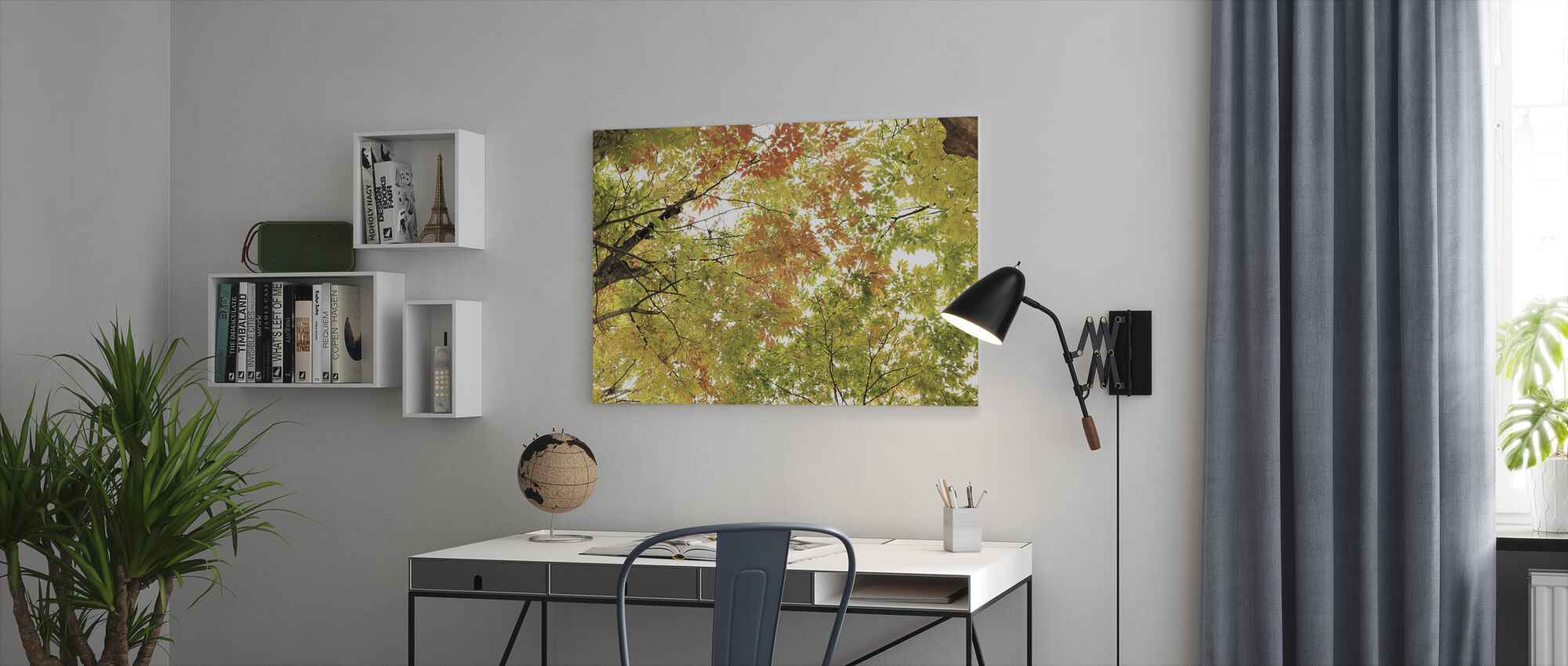 Colors of Autumn Leaves - Canvas print - Office