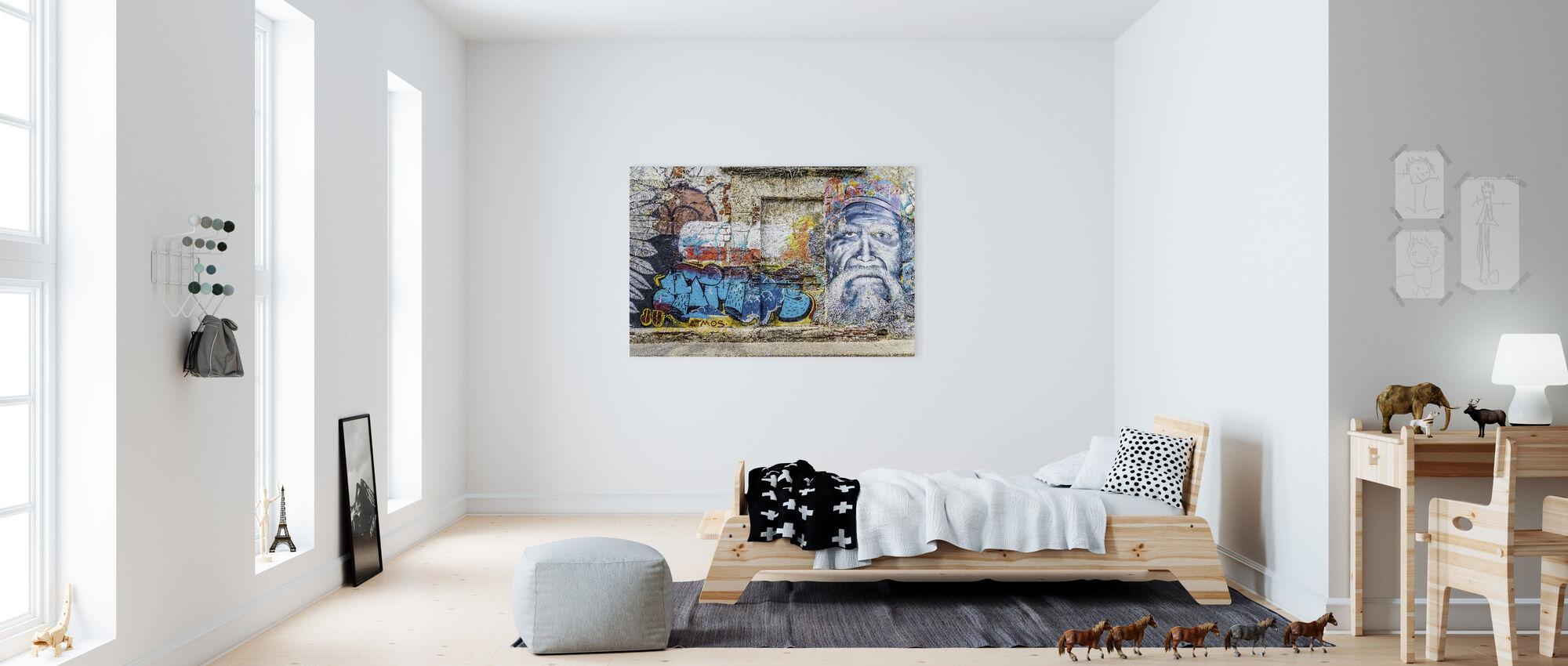 Wall Graffiti - Canvas print - Kids Room