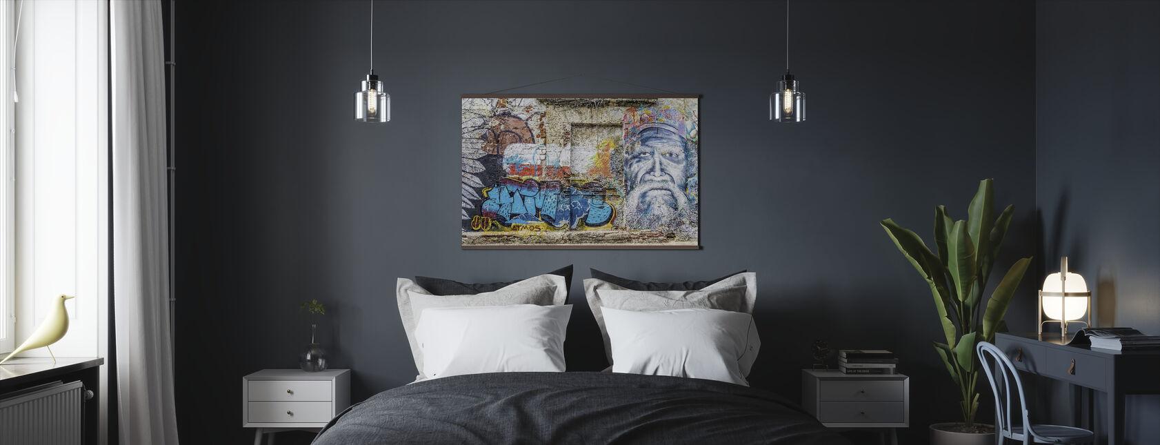 Wall Graffiti - Plakat - Soveværelse