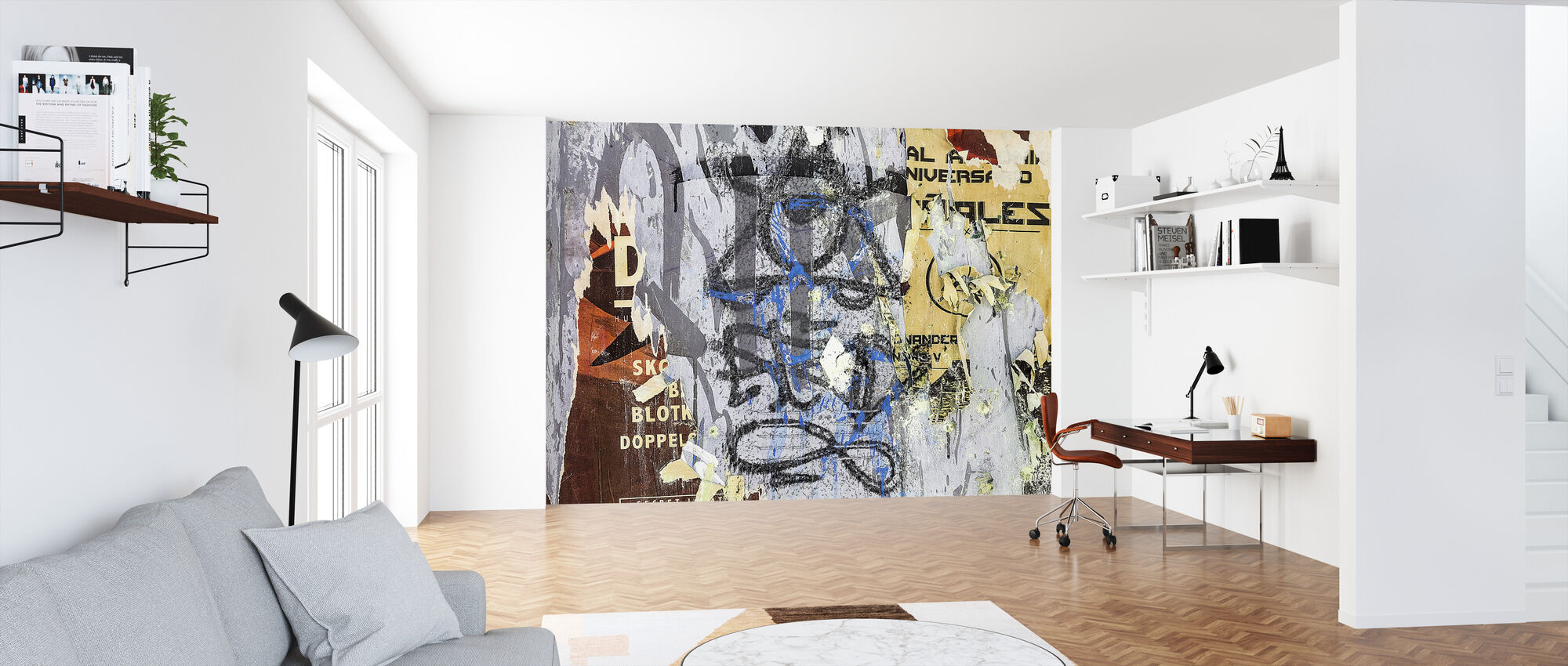 Torn Posters and Graffiti - Wallpaper - Office