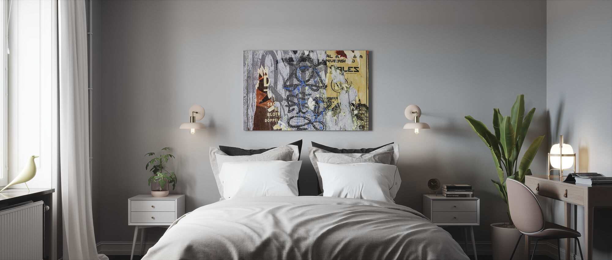 Torn Posters and Graffiti - Canvas print - Bedroom