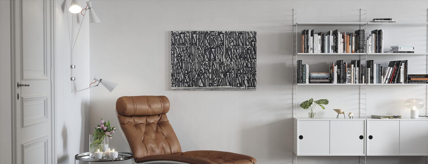 Abstract Graffiti - Canvas print - Living Room