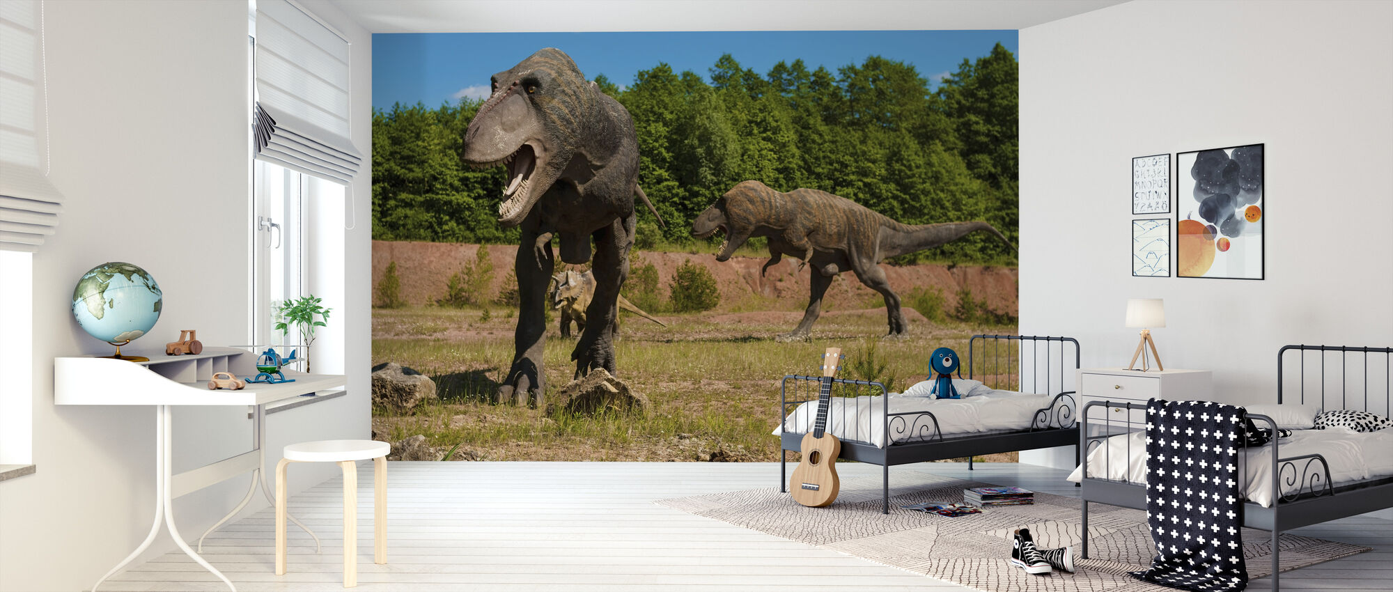 Monsterlijke dinosaurus - Behang - Kinderkamer