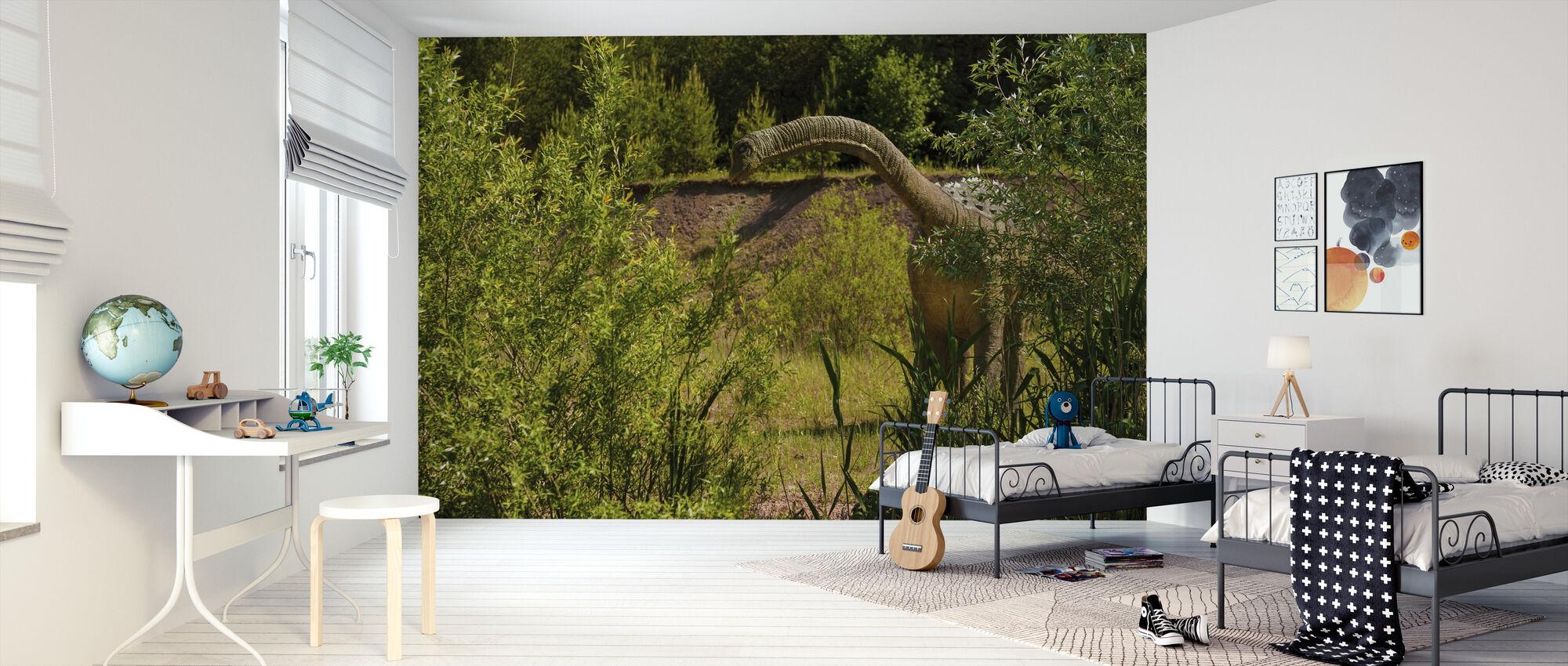 Pitkäkaulainen dinosaurus - Tapetti - Lastenhuone