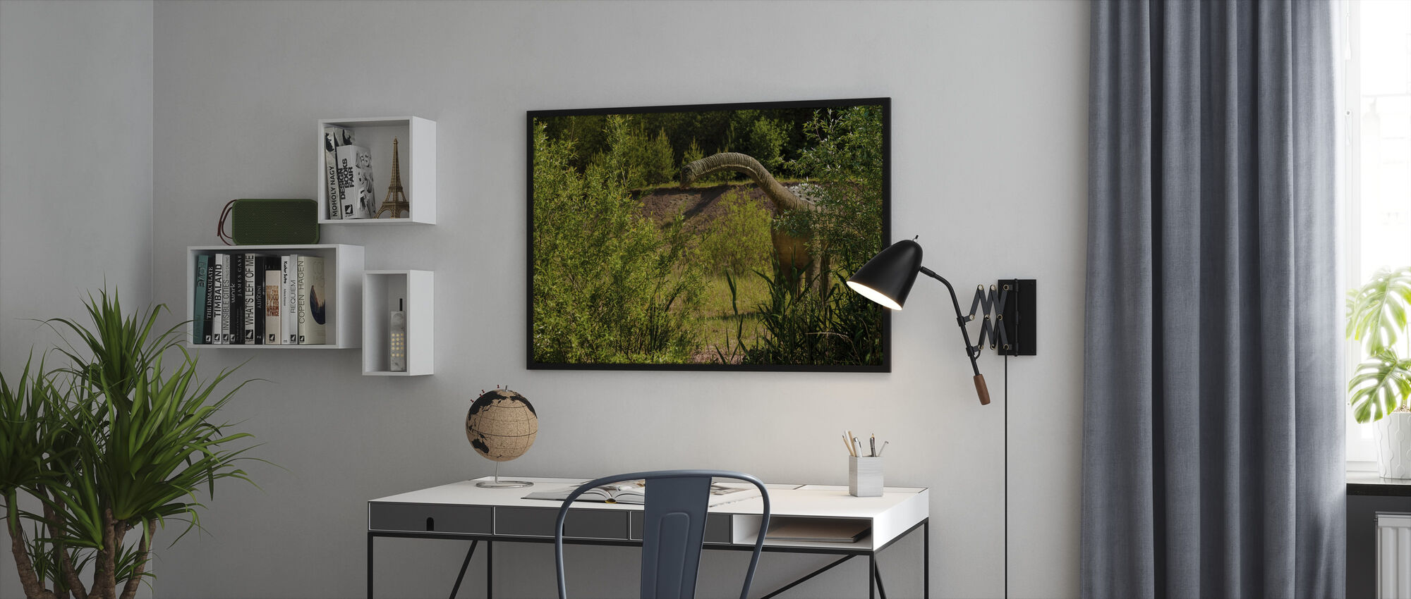 Long-Necked Dinosaur - Framed print - Office
