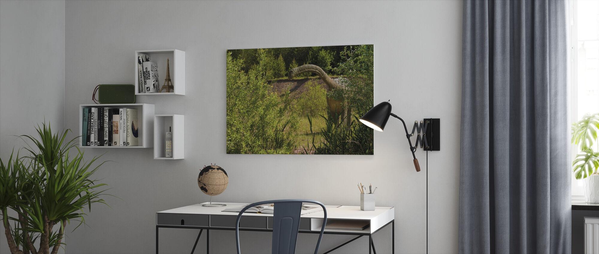 Long-Necked Dinosaur - Canvas print - Office