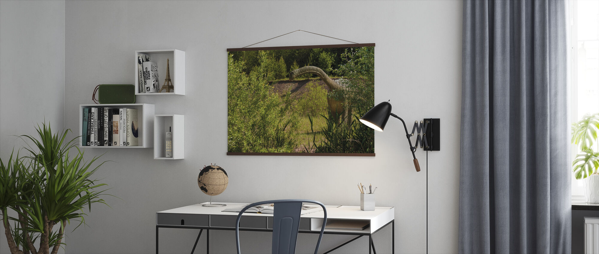 Long-Necked Dinosaur - Poster - Office