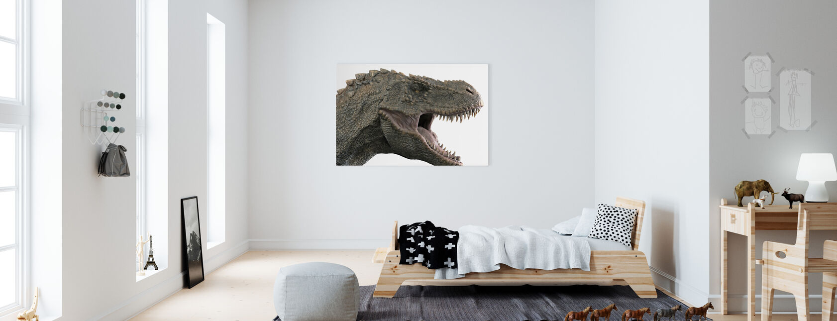 T-Rex Dinosaurie - Canvastavla - Barnrum