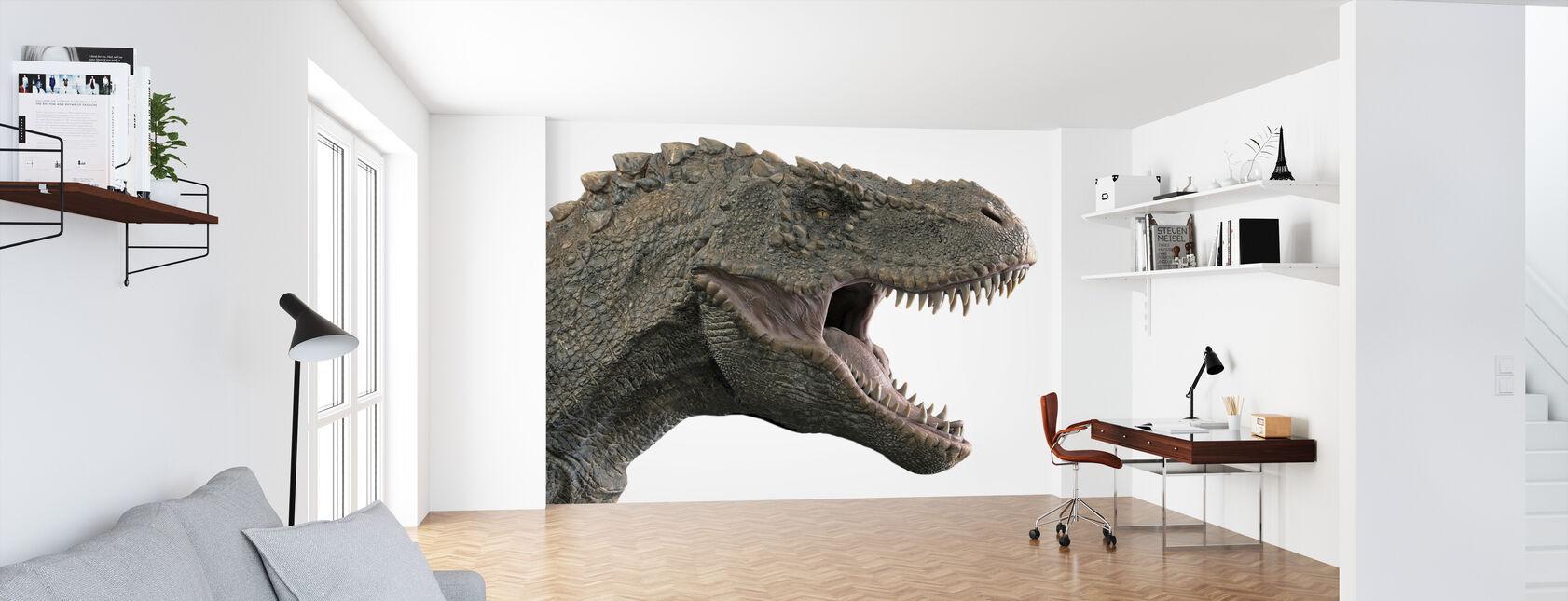 T-Rex Dinosaur - Wallpaper - Office