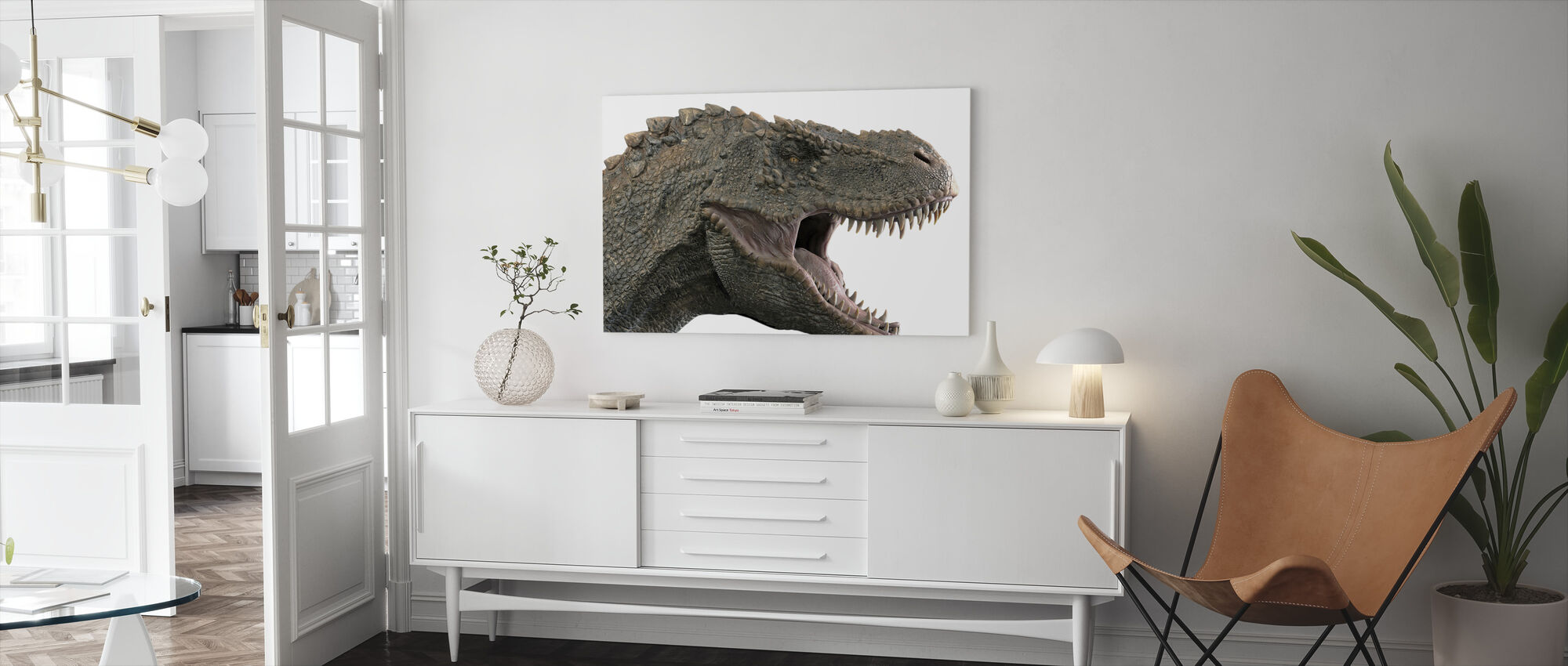 T-Rex Dinosaur - Canvas print - Living Room