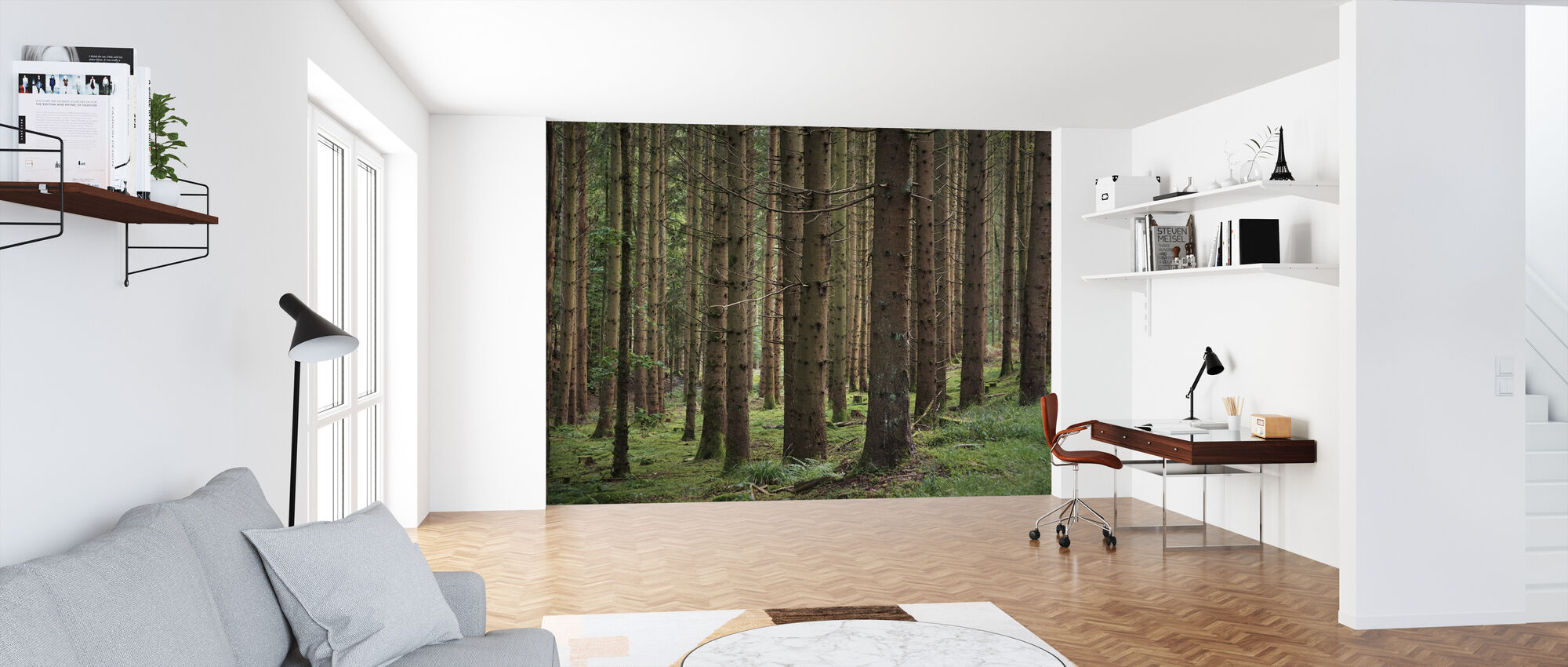 Coniferous Forest - Wallpaper - Office