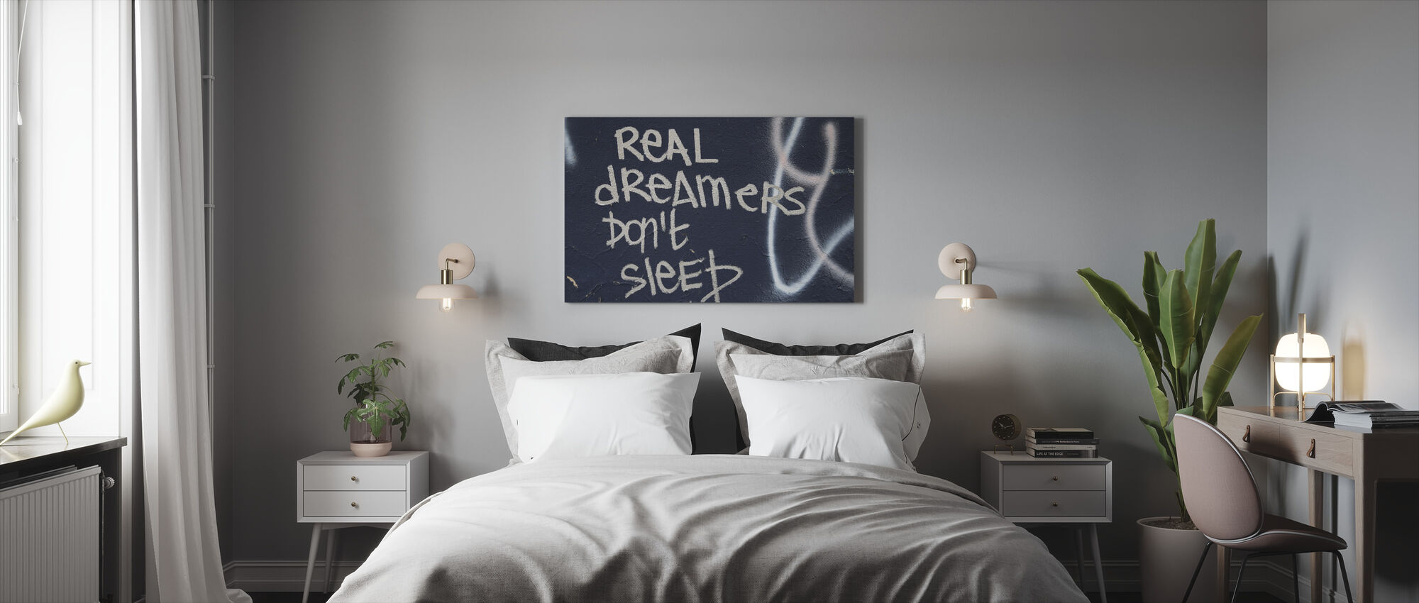 Julkisivu graffiti - Canvastaulu - Makuuhuone