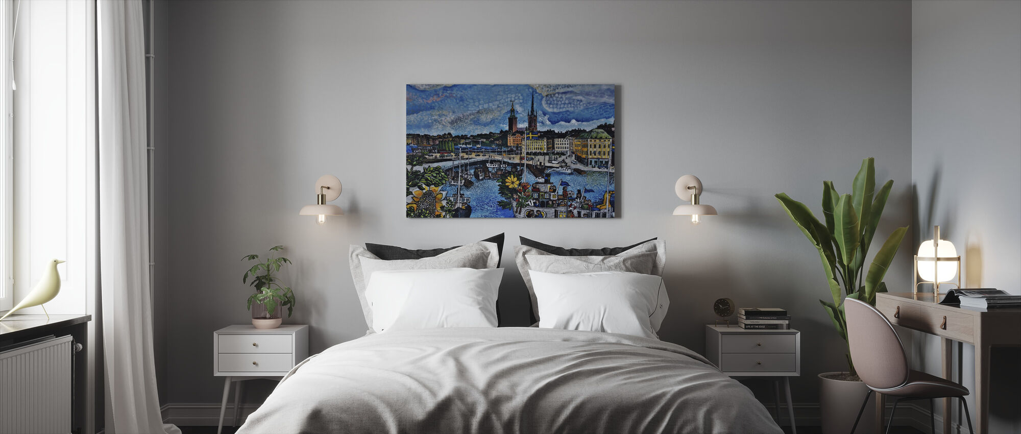 City Pier Painting - Canvas print - Bedroom