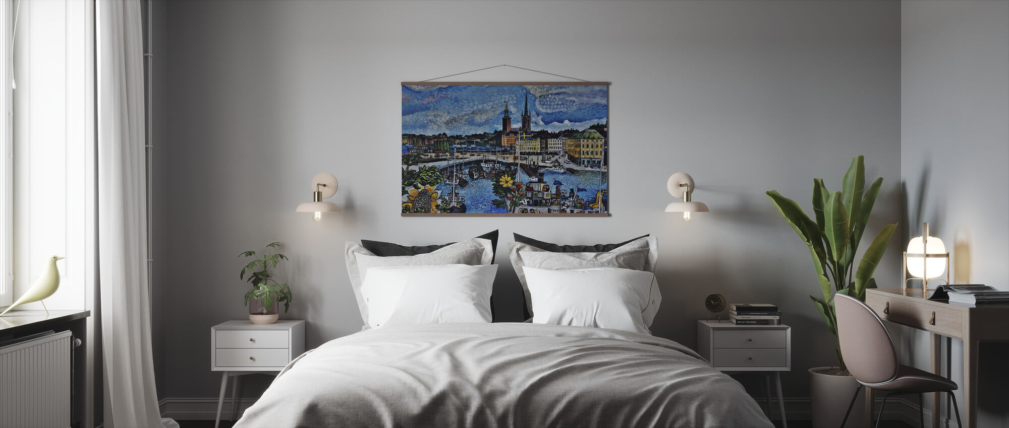 City Pier Painting - Poster - Bedroom