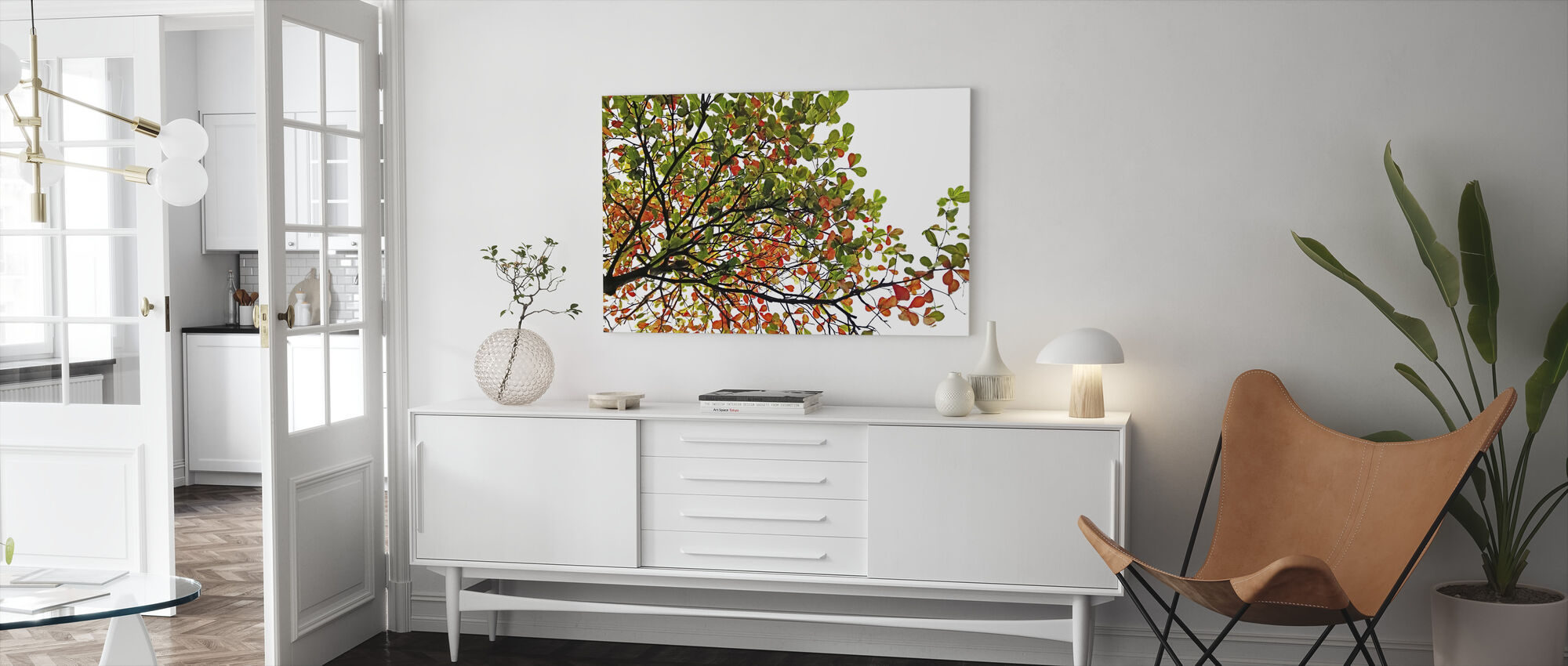 Colorful Catappa Leaves - Canvas print - Living Room