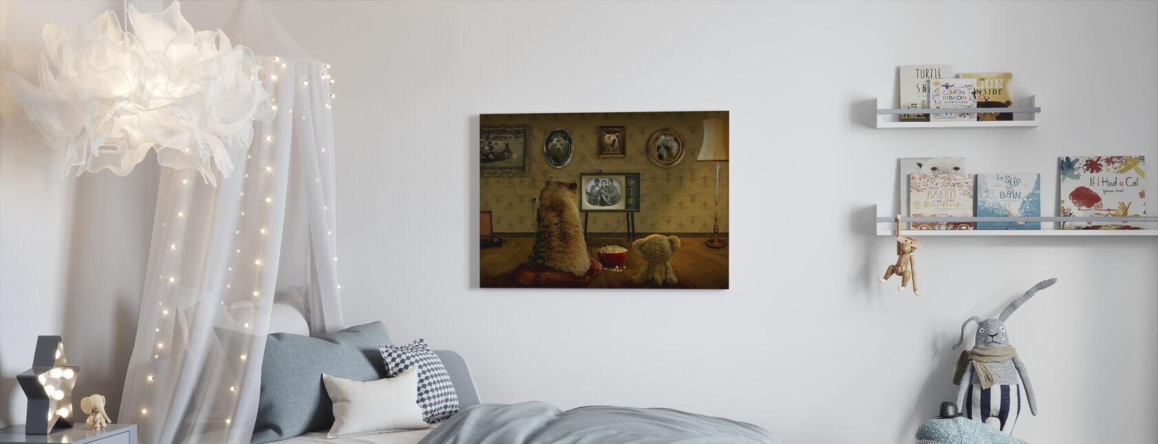 Bear and Teddy - Canvas print - Kids Room