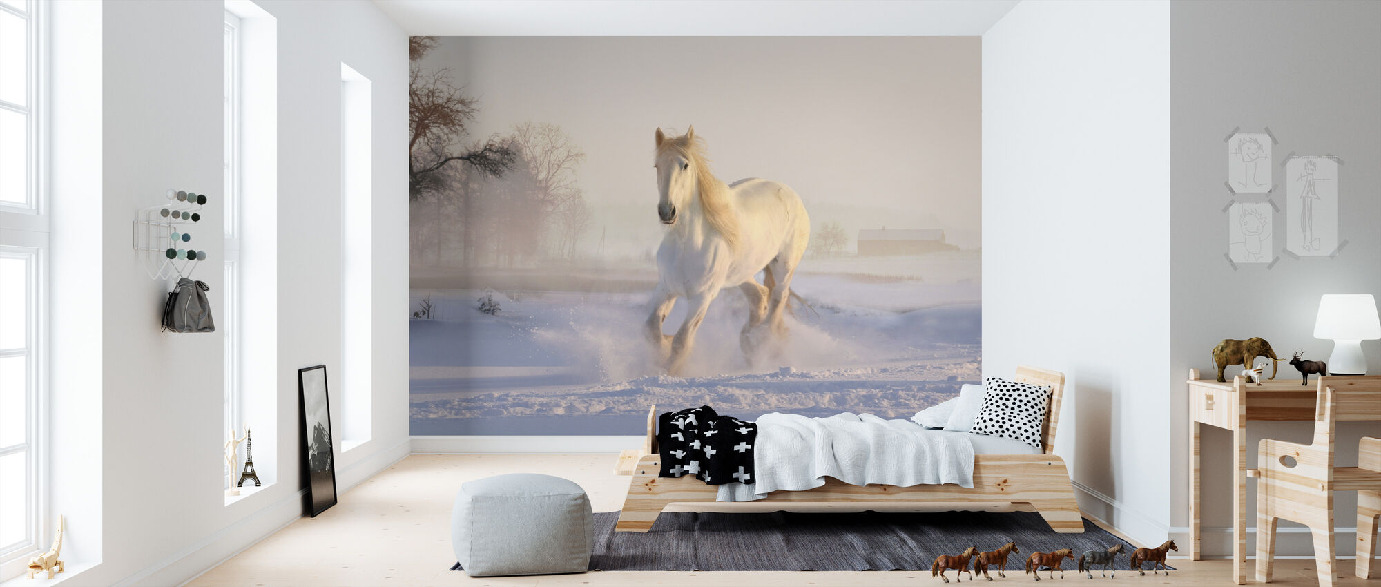 White Horse - Wallpaper - Kids Room