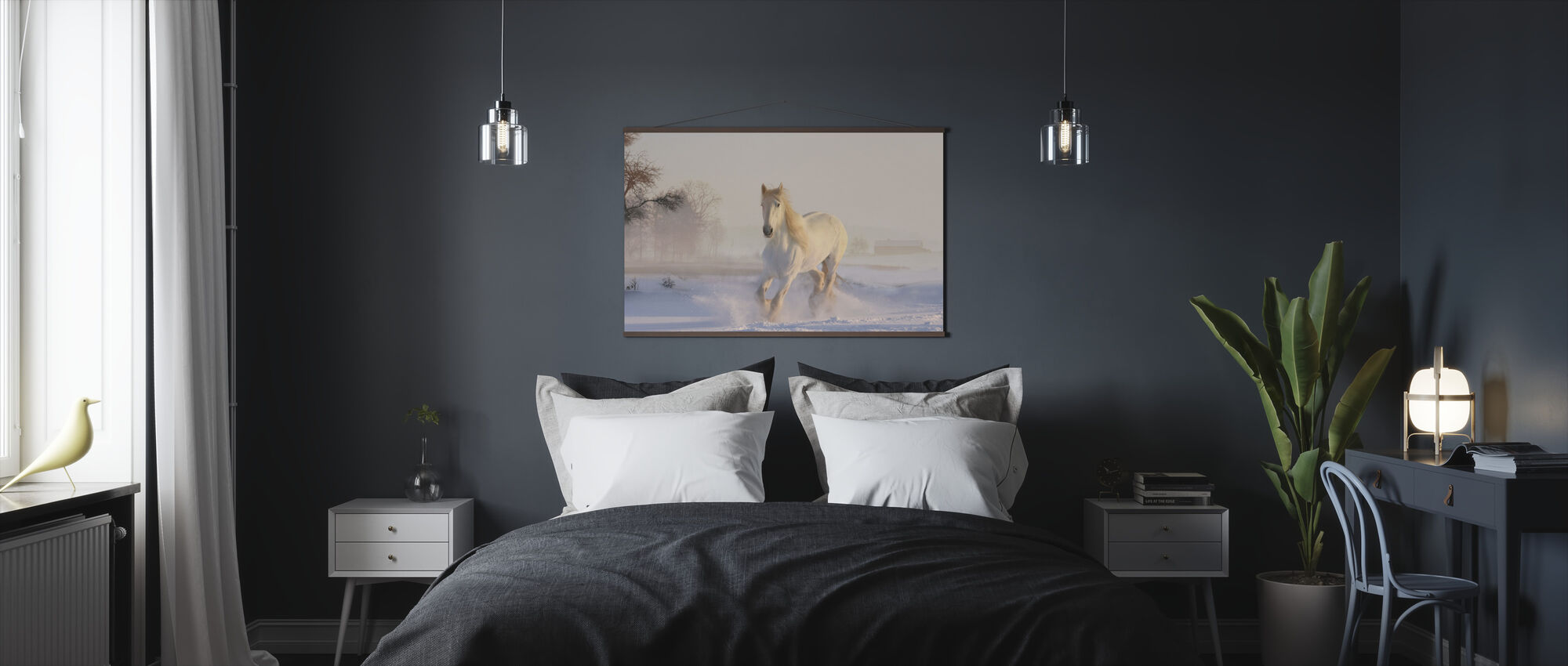 White Horse - Poster - Bedroom