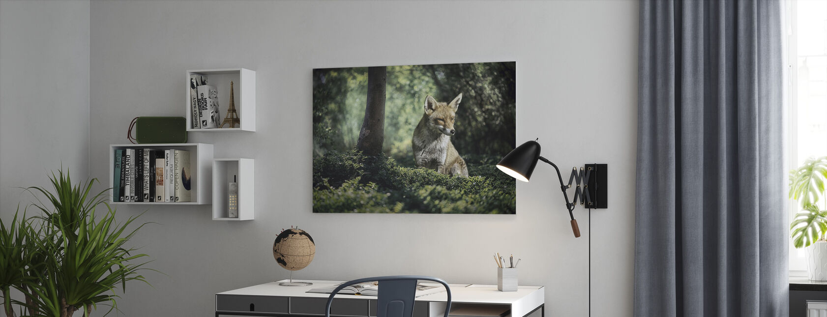 Little Brown Fox - Canvas print - Office
