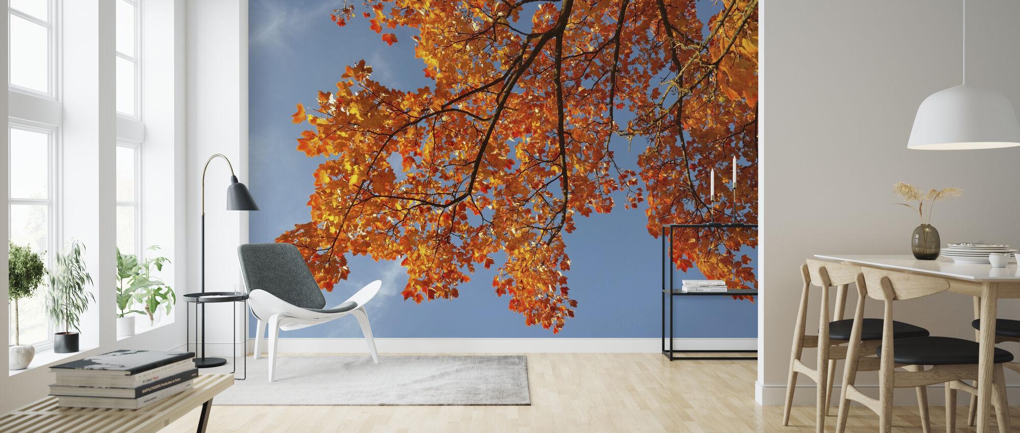 Golden Yellow Leaves - Wallpaper - Living Room
