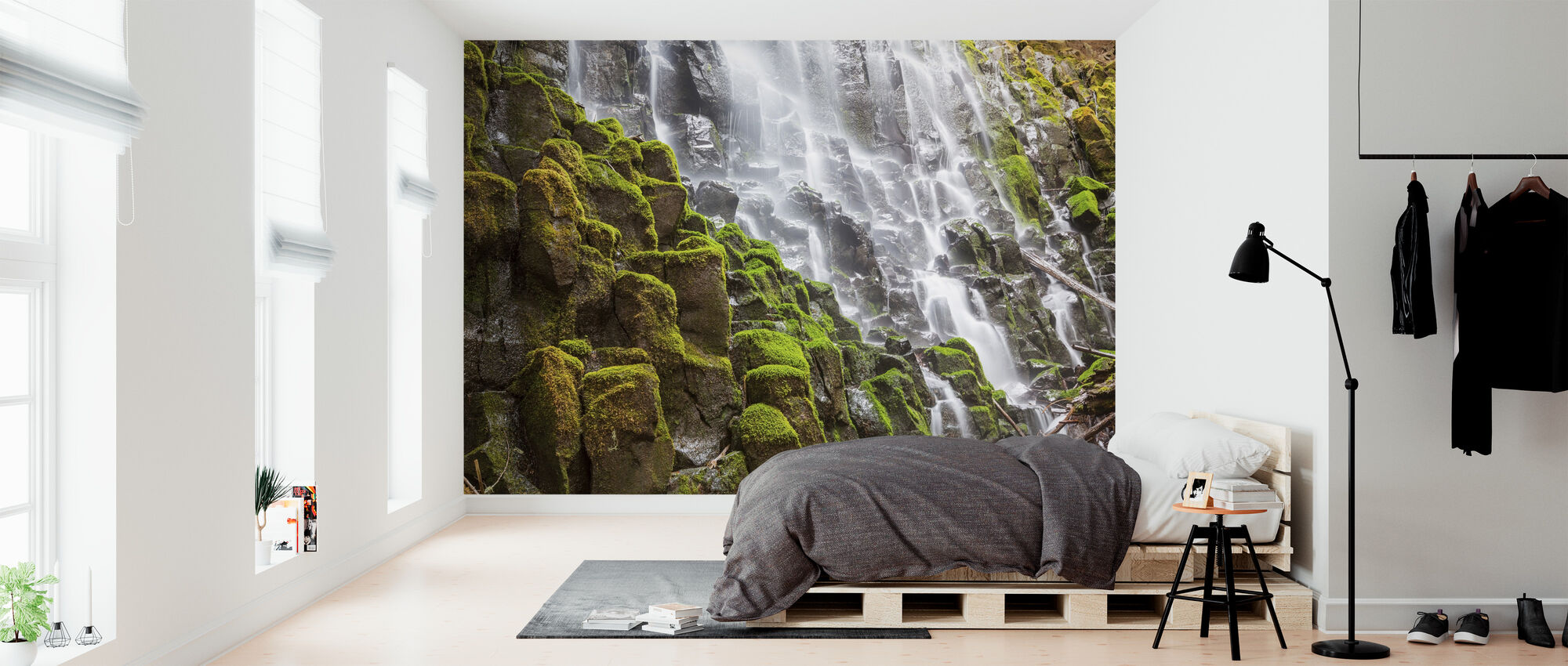 Waterfall and Moss - Wallpaper - Bedroom