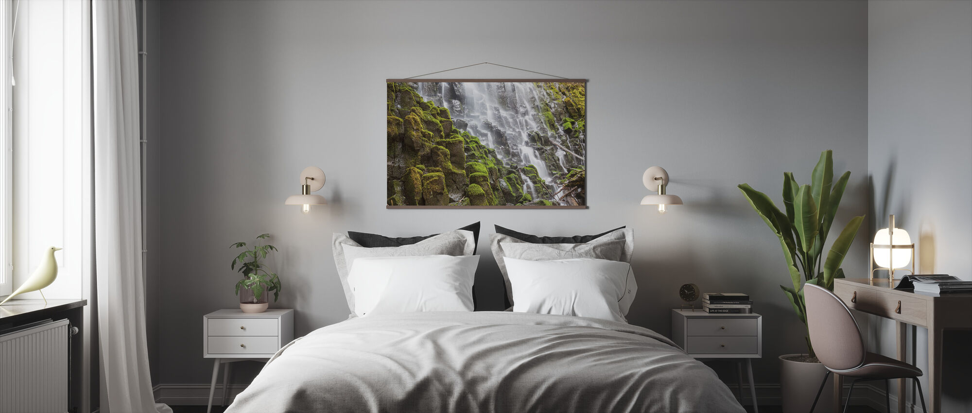 Waterfall and Moss - Poster - Bedroom