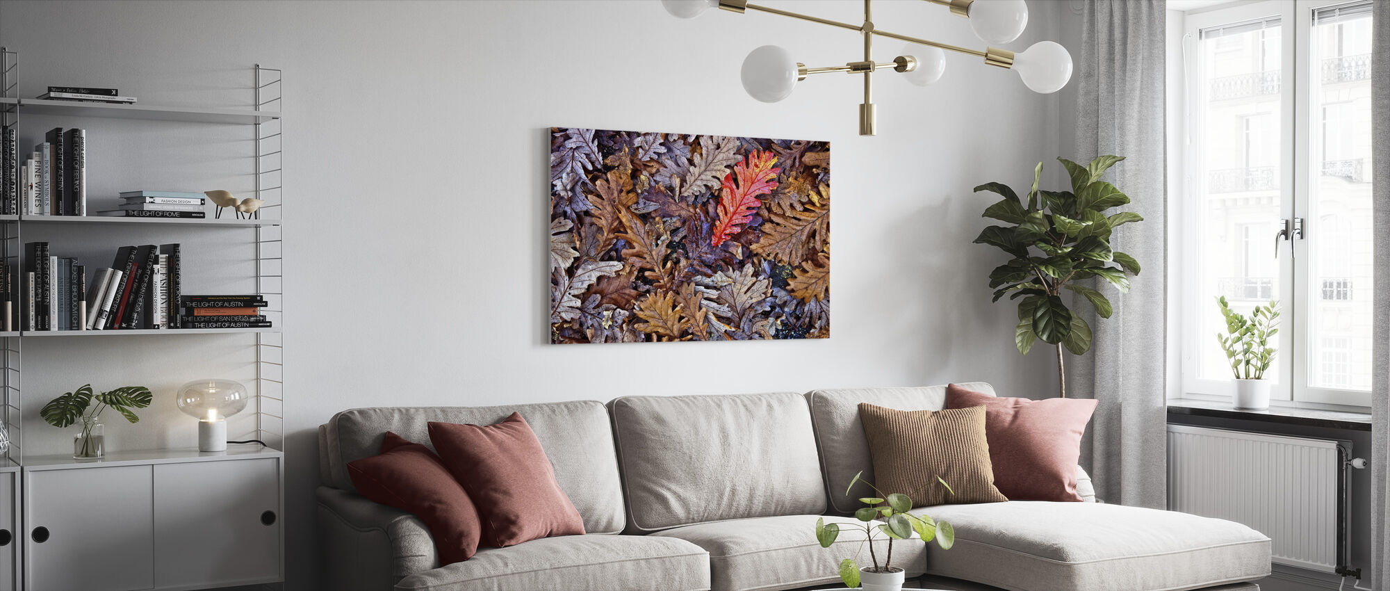 Fallen Oak Leaves - Canvas print - Living Room